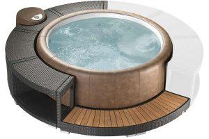 Softub Resort Mocca Polyrattanumrandung 5/8