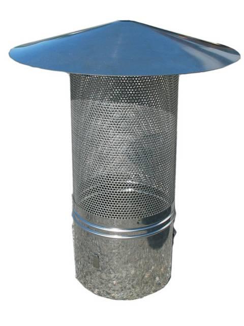Funkenschutz für Kaminrohr
