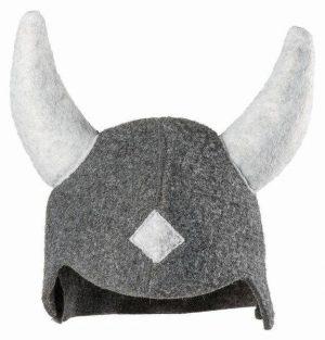 Wikkinger Hut in Grau Weiß