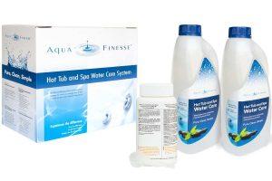 Aquafinesse Wasserpflege box mit Granulat.