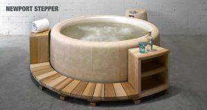 Rotzeder Stepper mit Almond Softub Whirlpool.