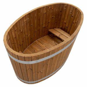 Vollholz Schaffelbad aus Thermokiefer ohne Holzofen.